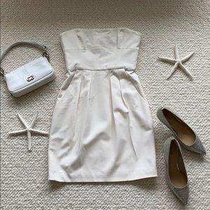 BCBG White Strapless Dress Size 2